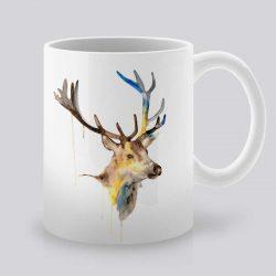 Сутрешната чаша кафе или чай става още по-приятна, с дизайнерската ни керамична чаша с щампа Глава на Елен.
