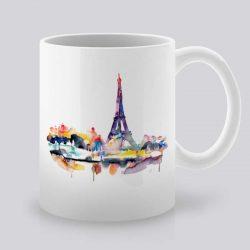 Сутрешната чаша кафе или чай става още по-приятна, с дизайнерската ни керамична чаша с щампа Гледка към Париж.