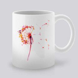 Сутрешната чаша кафе или чай става още по-приятна, с дизайнерската ни керамична чаша с щампа Глухарче.