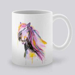 Сутрешната чаша кафе или чай става още по-приятна, с дизайнерската ни керамична чаша с щампа Конска Глава.