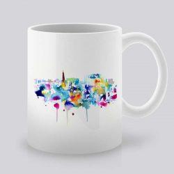 Сутрешната чаша кафе или чай става още по-приятна, с дизайнерската ни керамична чаша с щампа Лас Вегас.