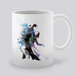 Сутрешната чаша кафе или чай става още по-приятна, с дизайнерската ни керамична чаша с щампа Любовен Танц.