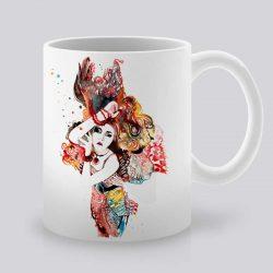 Сутрешната чаша кафе или чай става още по-приятна, с дизайнерската ни керамична чаша с щампа Ориент.