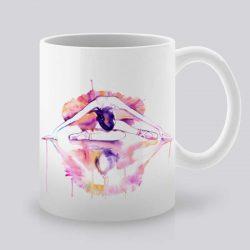 Сутрешната чаша кафе или чай става още по-приятна, с дизайнерската ни керамична чаша с щампа Отражение.