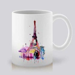 Сутрешната чаша кафе или чай става още по-приятна, с дизайнерската ни керамична чаша с щампа Романтика в Париж.