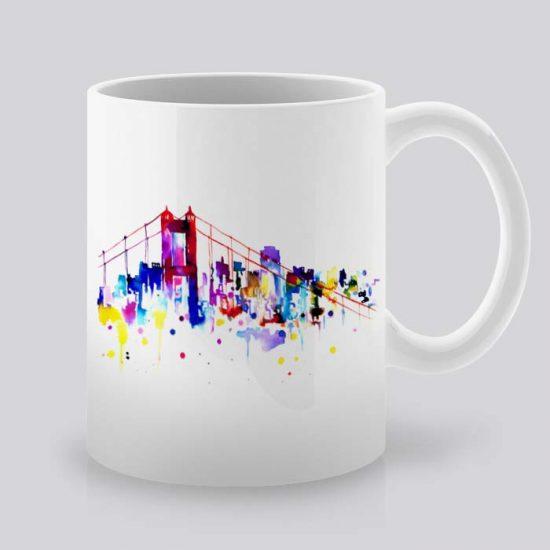 Сутрешната чаша кафе или чай става още по-приятна, с дизайнерската ни керамична чаша с щампа Сан Франциско.
