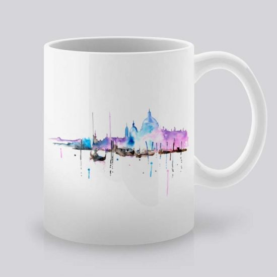Сутрешната чаша кафе или чай става още по-приятна, с дизайнерската ни керамична чаша с щампа Венеция.
