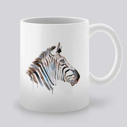 Сутрешната чаша кафе или чай става още по-приятна, с дизайнерската ни керамична чаша с щампа Зебра в Профил.