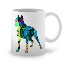 Сутрешната чаша кафе или чай става още по-приятна, с дизайнерската ни керамична чаша с щампа Американски Питбул Териер.
