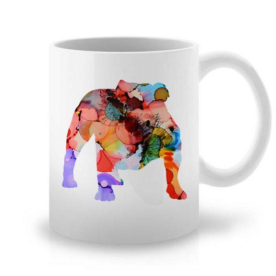Сутрешната чаша кафе или чай става още по-приятна, с дизайнерската ни керамична чаша с щампа Английски Булдог.