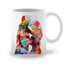 Сутрешната чаша кафе или чай става още по-приятна, с дизайнерската ни керамична чаша с щампа Блус за Двама.