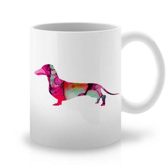 Сутрешната чаша кафе или чай става още по-приятна, с дизайнерската ни керамична чаша с щампа Дакел.