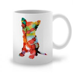 Сутрешната чаша кафе или чай става още по-приятна, с дизайнерската ни керамична чаша с щампа Дългокосместо Чихуахуа.