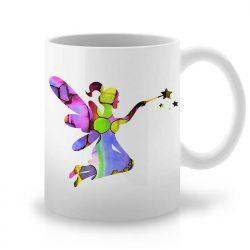 Сутрешната чаша кафе или чай става още по-приятна, с дизайнерската ни керамична чаша с щампа Фея.
