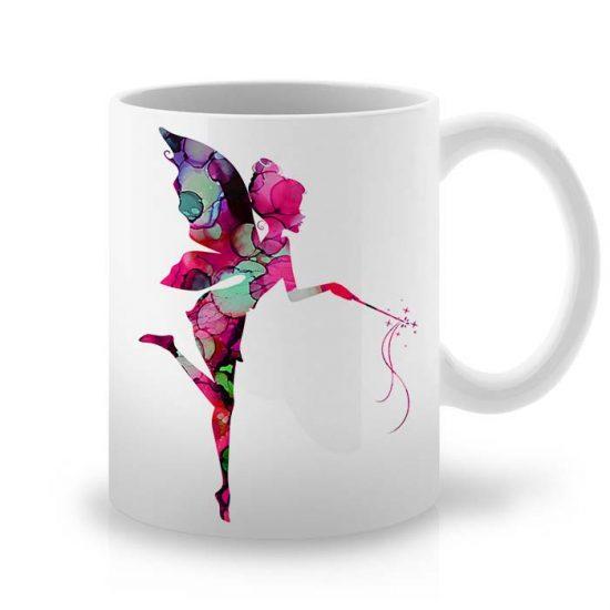 Сутрешната чаша кафе или чай става още по-приятна, с дизайнерската ни керамична чаша с щампа Фея с Вълшебна Пръчица.