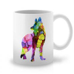 Сутрешната чаша кафе или чай става още по-приятна, с дизайнерската ни керамична чаша с щампа Немска Овчарка.