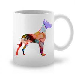 Сутрешната чаша кафе или чай става още по-приятна, с дизайнерската ни керамична чаша с щампа Немски дог.