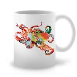 Сутрешната чаша кафе или чай става още по-приятна, с дизайнерската ни керамична чаша с щампа Октопод.