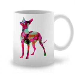 Сутрешната чаша кафе или чай става още по-приятна, с дизайнерската ни керамична чаша с щампа Пинчер.