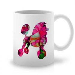 Сутрешната чаша кафе или чай става още по-приятна, с дизайнерската ни керамична чаша с щампа Розов Пудел.