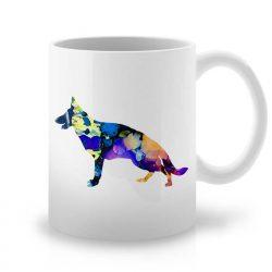 Сутрешната чаша кафе или чай става още по-приятна, с дизайнерската ни керамична чаша с щампа Старонемска Овчарка.