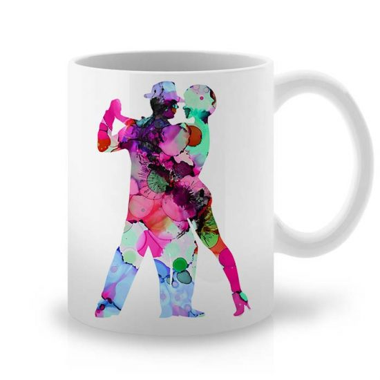 Сутрешната чаша кафе или чай става още по-приятна, с дизайнерската ни керамична чаша с щампа Страстен Танц.