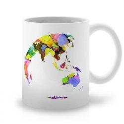 Сутрешната чаша кафе или чай става още по-приятна, с дизайнерската ни керамична чаша с щампа Земно кълбо.
