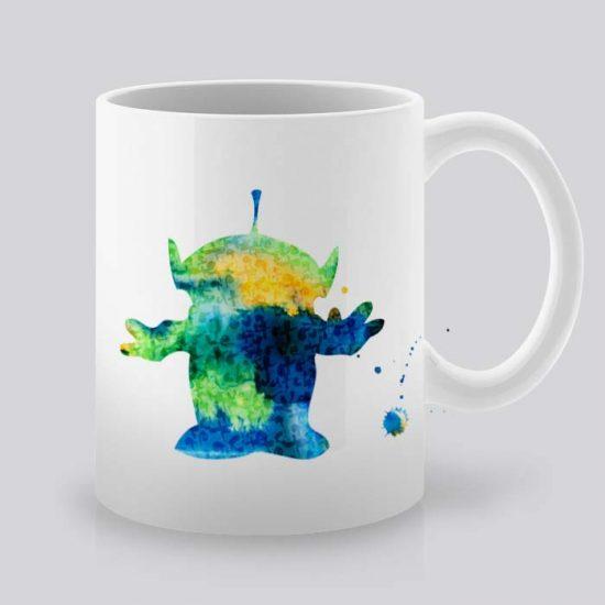 Сутрешната чаша кафе или чай става още по-приятна, с дизайнерската ни керамична чаша с щампа извънземно.