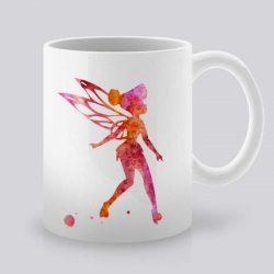 Сутрешната чаша кафе или чай става още по-приятна, с дизайнерската ни керамична чаша с щампа Малката Фея.