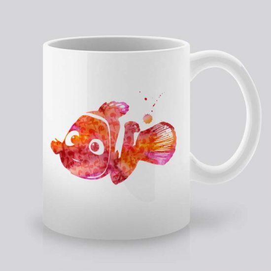 Сутрешната чаша кафе или чай става още по-приятна, с дизайнерската ни керамична чаша с щампа Немо.