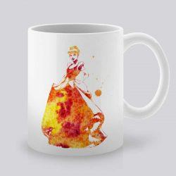 Сутрешната чаша кафе или чай става още по-приятна, с дизайнерската ни керамична чаша с щампа Пепеляшка.