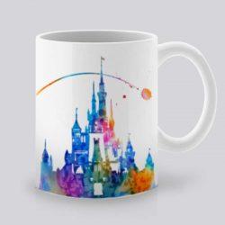 Сутрешната чаша кафе или чай става още по-приятна, с дизайнерската ни керамична чаша с щампа Приказен замък.