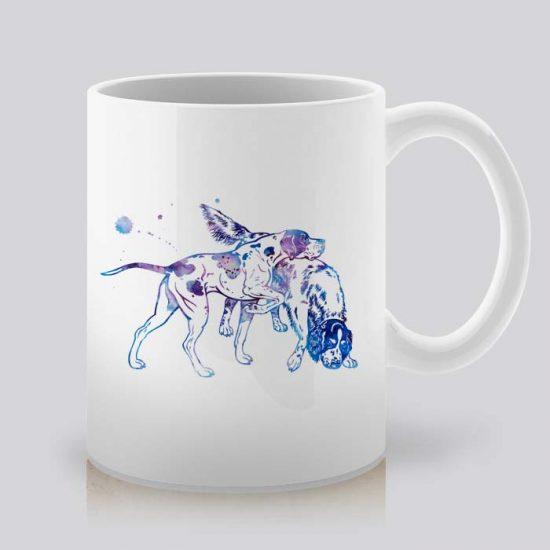 Сутрешната чаша кафе или чай става още по-приятна, с дизайнерската ни керамична чаша с щампа Сетер и Пойнтер.