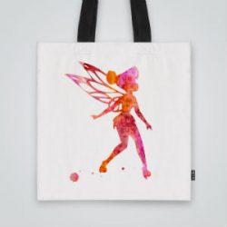 Дизайнерска чанта от плат Малката фея се шие индивидуално за вас - лека, сгъваема, разпознаваема дамска чанта или удобна чанта за пазар.