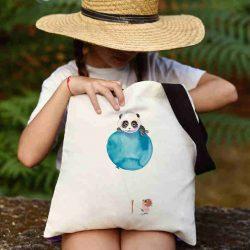 Детска чанта Ела с мен се шие индивидуално за вас - лека, сгъваема, разпознаваема детска чанта или удобна чанта за пазар.