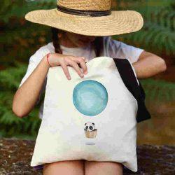 Детска чанта Летящ балон се шие индивидуално за вас - лека, сгъваема, разпознаваема детска чанта или удобна чанта за пазар.