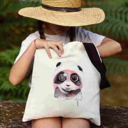 Детска чанта Панда надува балон се шие индивидуално за вас - лека, сгъваема, разпознаваема детска чанта или удобна чанта за пазар.