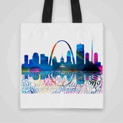 Дизайнерска чанта от плат Гледка към града 2 се шие индивидуално за вас - лека, сгъваема, разпознаваема дамска чанта или удобна чанта за пазар.