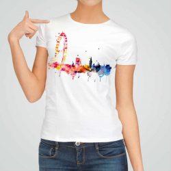 Дамска тениска Окото на Лондон е изработена от висококачествен памук и последно поколение технология на печат. Ярки цветове и прецизен детайл – сякаш някой е рисувал с четка и бои върху плата.