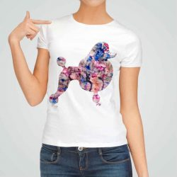 Дамска тениска Пудел е изработена от висококачествен памук и последно поколение технология на печат. Ярки цветове и прецизен детайл – сякаш някой е рисувал с четка и бои върху плата.