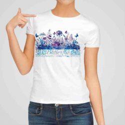 Дамска тениска Райска Градина е изработена от висококачествен памук и последно поколение технология на печат. Ярки цветове и прецизен детайл – сякаш някой е рисувал с четка и бои върху плата.