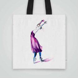 Дизайнерска чанта от плат Чанта от плат Балетна Стъпка се шие индивидуално за вас - лека, сгъваема, разпознаваема дамска чанта или удобна чанта за пазар.