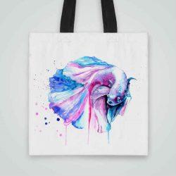 Дизайнерска чанта от плат Бета се шие индивидуално за вас - лека, сгъваема, разпознаваема дамска чанта или удобна чанта за пазар.