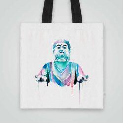 Дизайнерска чанта от плат Буда се шие индивидуално за вас - лека, сгъваема, разпознаваема дамска чанта или удобна чанта за пазар.