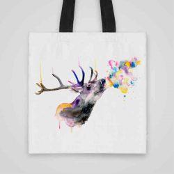 Дизайнерска чанта от плат Еленов Дъх се шие индивидуално за вас - лека, сгъваема, разпознаваема дамска чанта или удобна чанта за пазар.