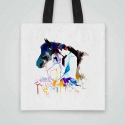 Дизайнерска чанта от плат Флирт се шие индивидуално за вас - лека, сгъваема, разпознаваема дамска чанта или удобна чанта за пазар.