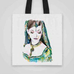 Дизайнерска чанта от плат Красотата на Изтока се шие индивидуално за вас - лека, сгъваема, разпознаваема дамска чанта или удобна чанта за пазар.