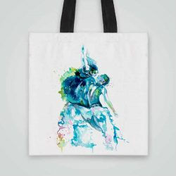 Дизайнерска чанта от плат Модерни Танци се шие индивидуално за вас - лека, сгъваема, разпознаваема дамска чанта или удобна чанта за пазар.
