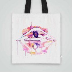 Дизайнерска чанта от плат Отражение на Балерина се шие индивидуално за вас - лека, сгъваема, разпознаваема дамска чанта или удобна чанта за пазар.