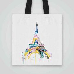 Дизайнерска чанта от плат Париж се шие индивидуално за вас - лека, сгъваема, разпознаваема дамска чанта или удобна чанта за пазар.